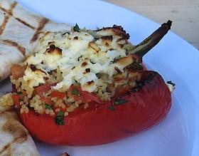 Grilované papriky s kuskusem